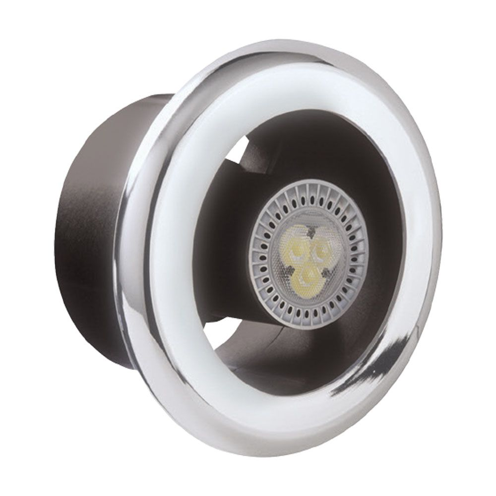 Manrose ledslcfdtcn slktc shower fan and led light kit Most powerful bathroom extractor fan