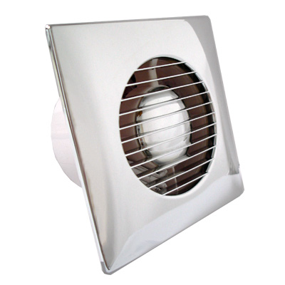Chrome bathroom extractor fan gfanc4sltc Most powerful bathroom extractor fan