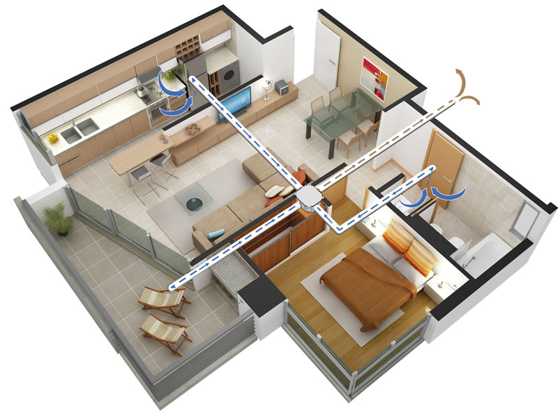 Whole House Mechanical Ventilation System : Whole house ventilation systems continuous centralised