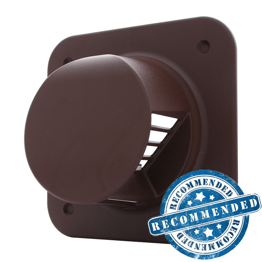 4 Inch  No Resist  Back Draught Grille   Brown. Silent Tornado ST100B  The UK s Best Bathroom Extractor Fan