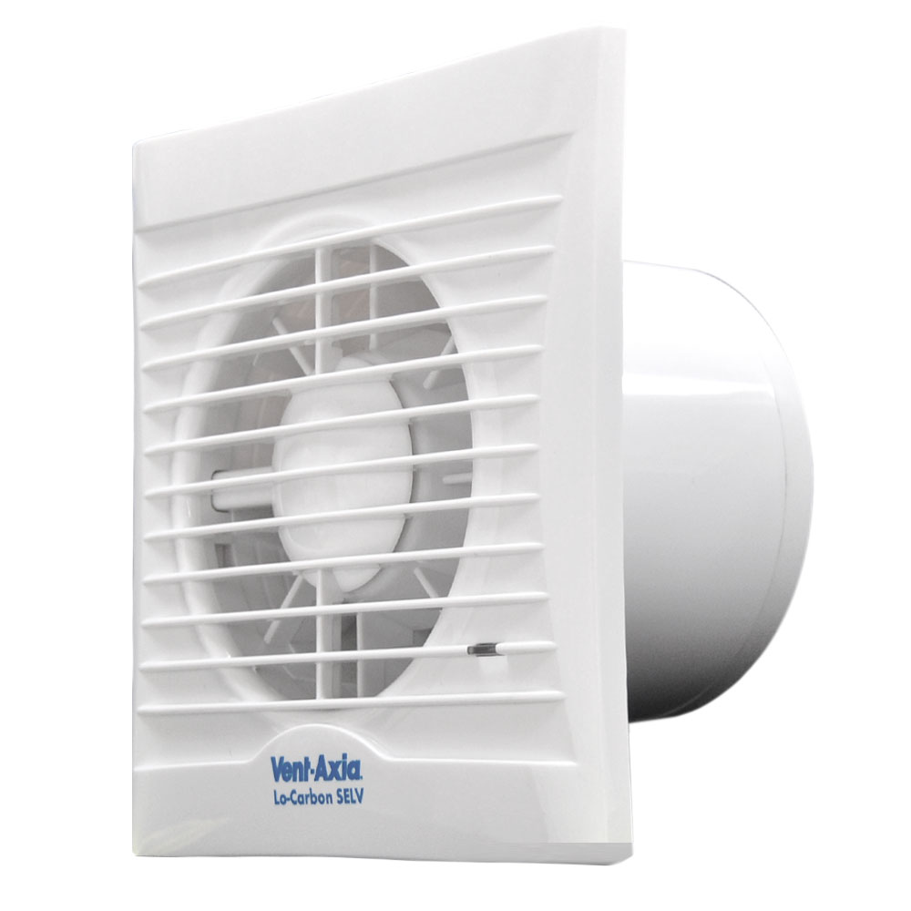 VentAxia 441512 12v Lo-Carbon Silhouette Bathroom Extractor Fan & Timer