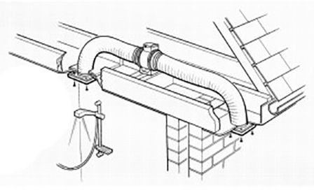 Turbo Tube Pro 100 4 Inch Inline Fan 3780 P on bathroom extractor fan wiring diagram uk